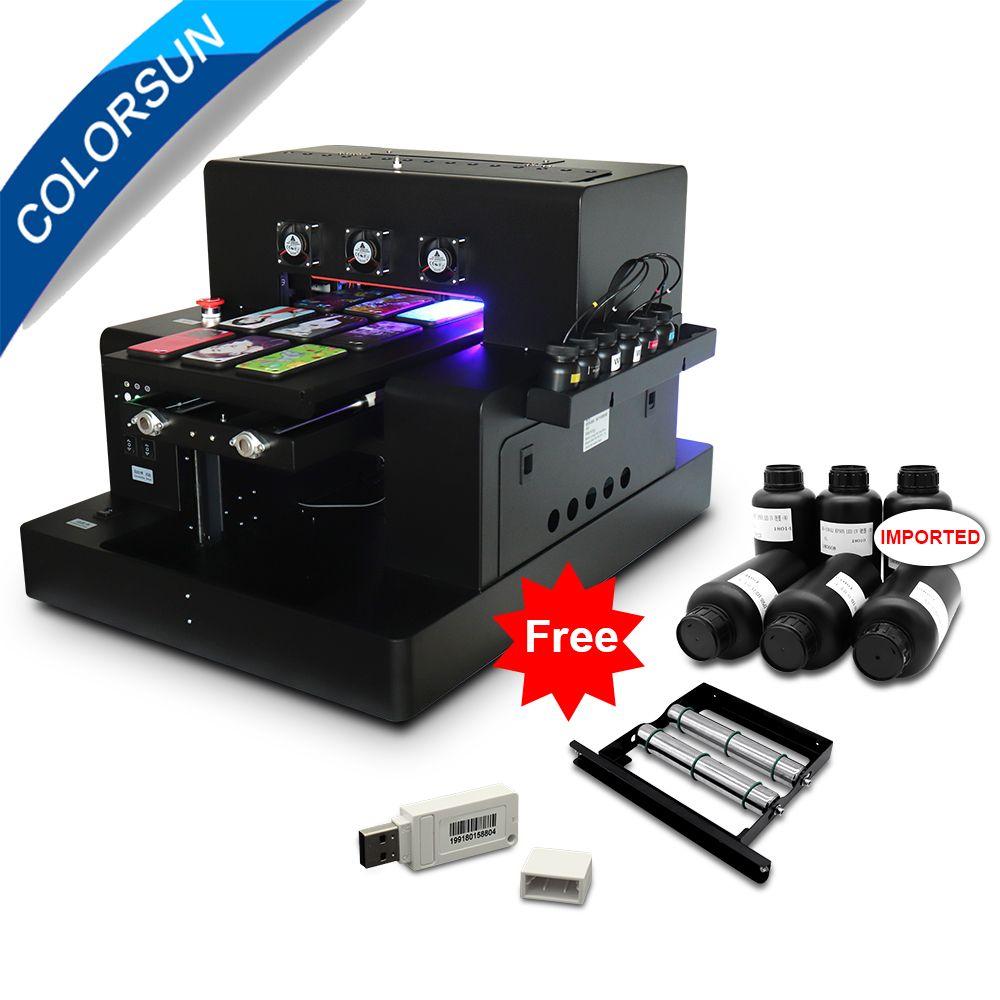 Colorsun Neue Automatische A3 UV Led Drucker (280*500mm) für telefon fall Zylinder holz glas druck mit CE mit RIP 9,0 software