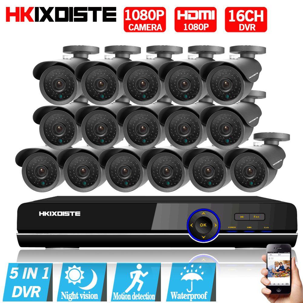 Security Camera System 16ch AHD 1080P CCTV System 1080P CCTV Camera 2.0MP Camera Surveillance System Kit Camaras Seguridad Home