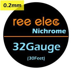 REE ELEC 10m/roll 0.2mm NI80 Nichrome Wire DIY Coils Electronic Cigarette Rda Atomizer Vape Pen Accessories Heating Wire