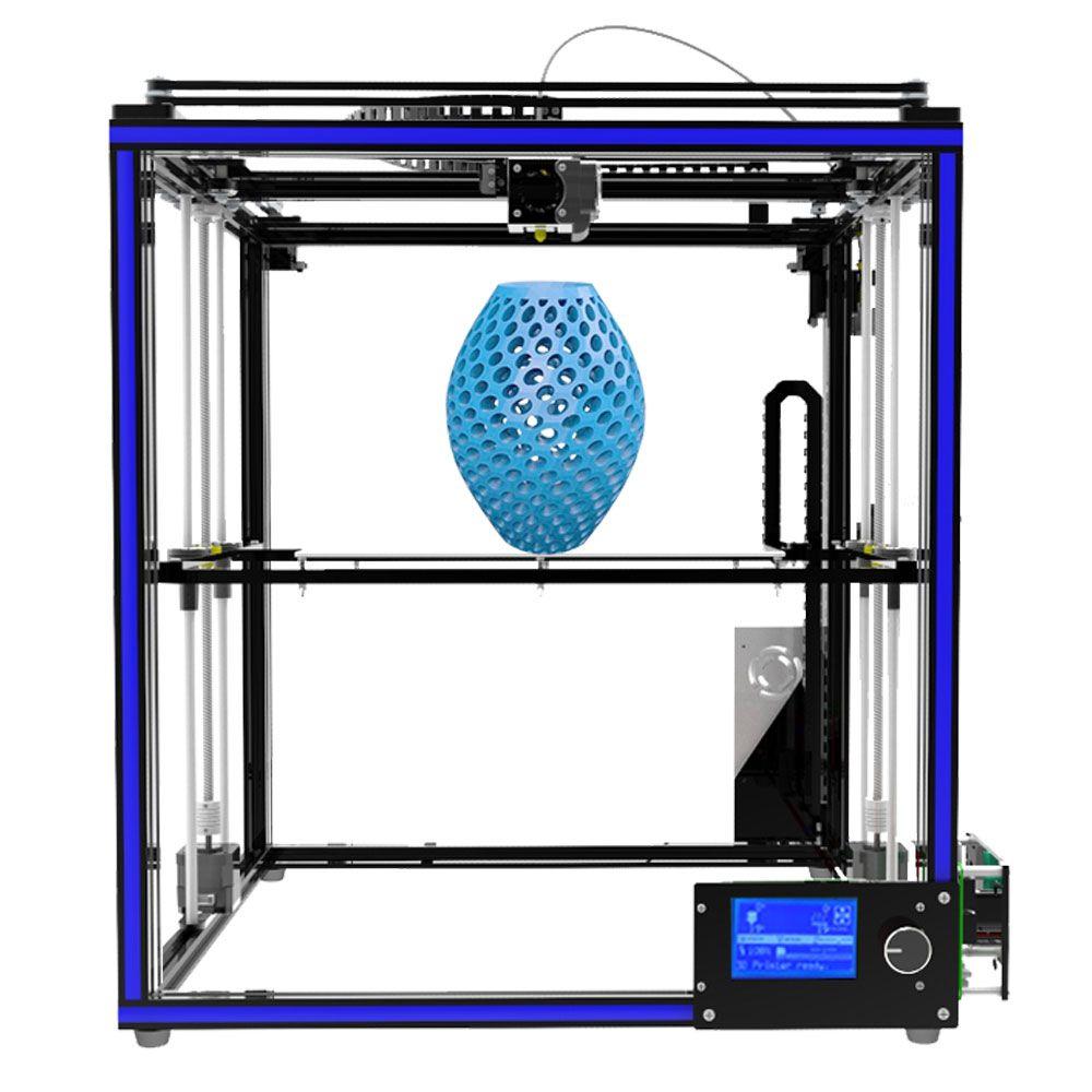 High-precision Tronxy X5S Aluminium Profile Frame 3D Printer Big Print Area CoreXY System 12864P LCD Big Screen