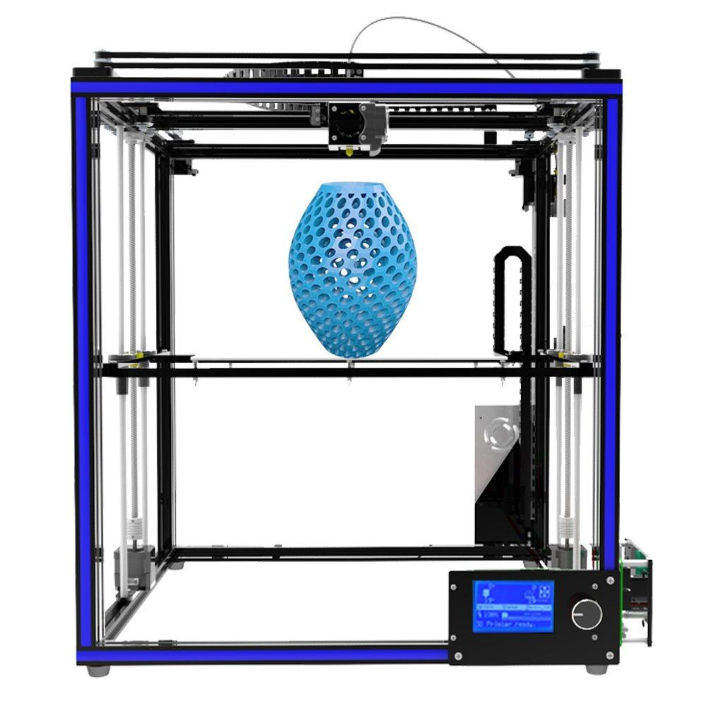High-precision Tronxy X5S Aluminium Profile Frame 3D Printer Big Print Area CoreXY System 12864P LCD Big Screen