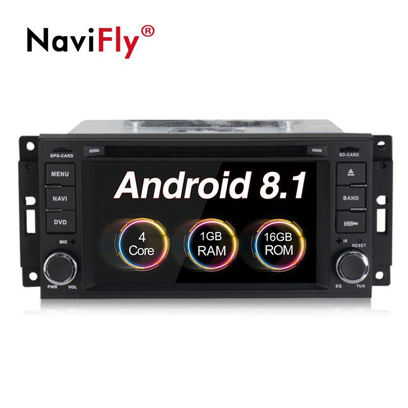 Neue Android 8.1 Auto dvd-multimedia-player radio Für Jeep Patriot Compass Wrangler Liberty 300C DODGE GPS Navigation WIFi BT RDS