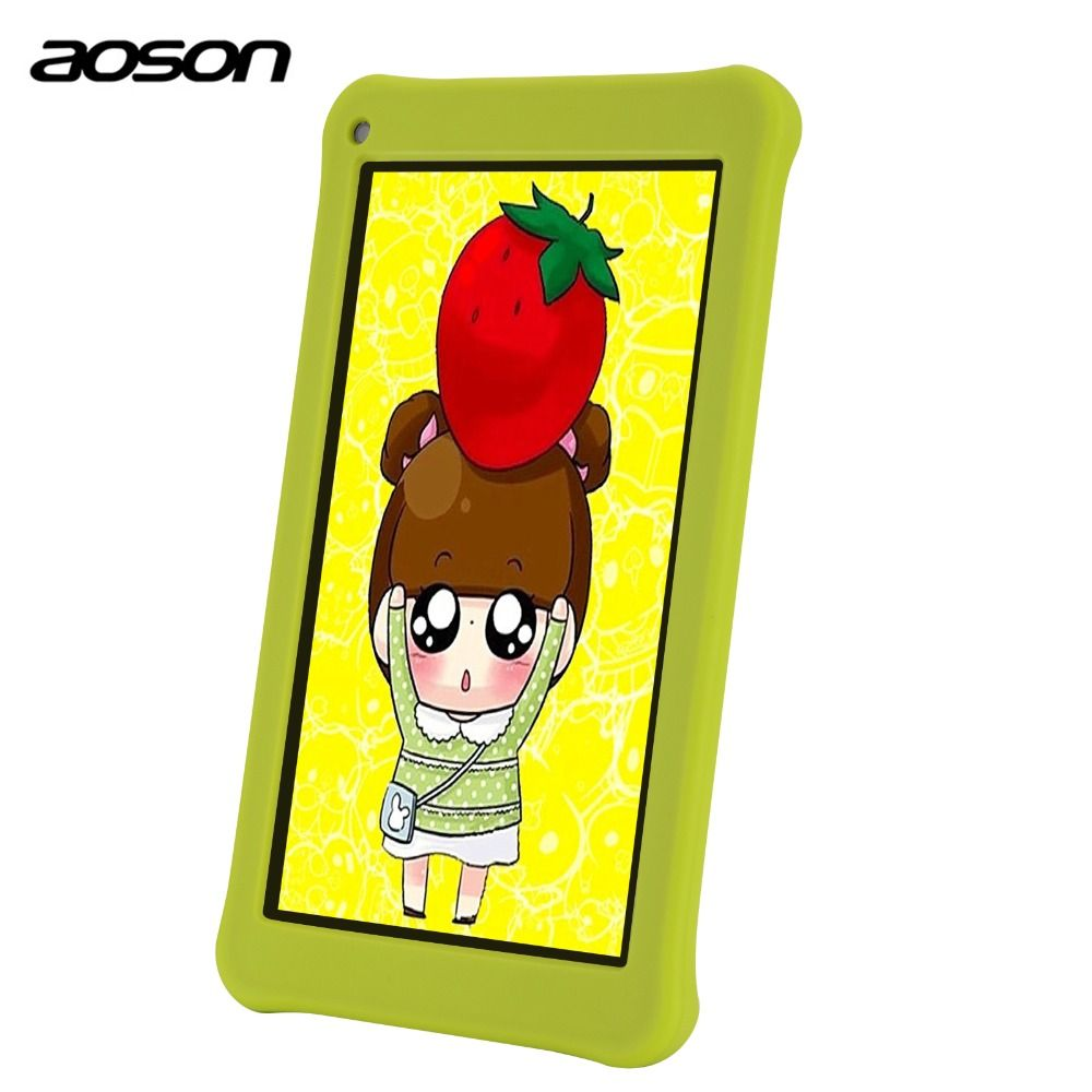 Education Cartoon tablets AOSON M753 7 inch android Tablet PC Android 7.0 16GB ROM Quad Core Tablet HD IPS 1024*600 Bluetooth