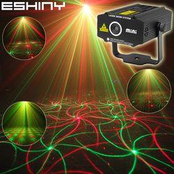 ESHINY Мини 4in1 узор эффект R & G аудио Star Вихрь лазерный проектор этап диджей для диско клуба Бар КТВ Семья вечерние световое шоу P14