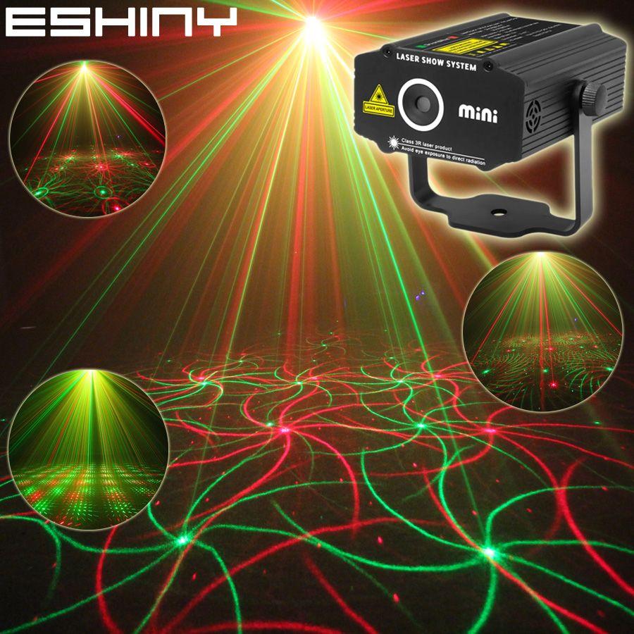 ESHINY Mini 4in1 motif effet R & G Audio Star tourbillon Laser projecteur scène Disco DJ Club Bar KTV famille fête lumière spectacle P14