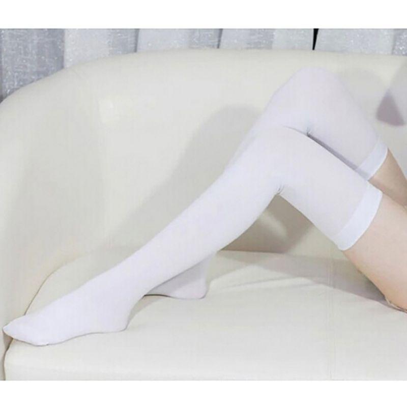 Fall Women Velvet Over The Knee Socks Stockings Black White Thigh High Socks For Ladies Girls Sexy Stocking