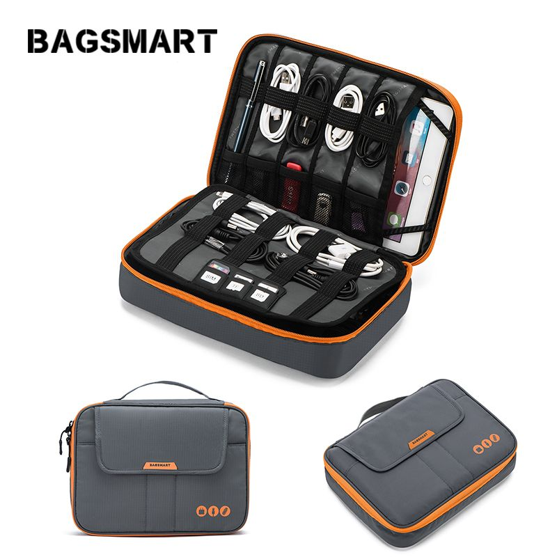 BAGSMART Voyage Accessoires Électroniques Sac Voyage D'affaires Emballage Organisateur Fit dans Pad Kindle Portable Ligne de Données Chargeur sac
