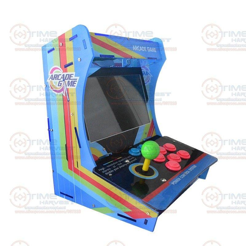 10,4 LCD Mini Tischplatte Acryl Schrank Mit Neue Spielbrett 999 in 1 Jamma Arcade Konsole 10,4 zoll Arcade-spiel maschine