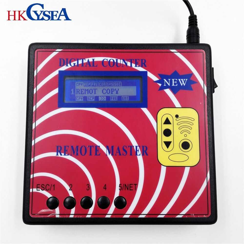 HKCYSEA New Digital Counter Remote Master Key Programmer,Frequency Meter Fixed/Rolling Code Remote Copier With Blue Screen