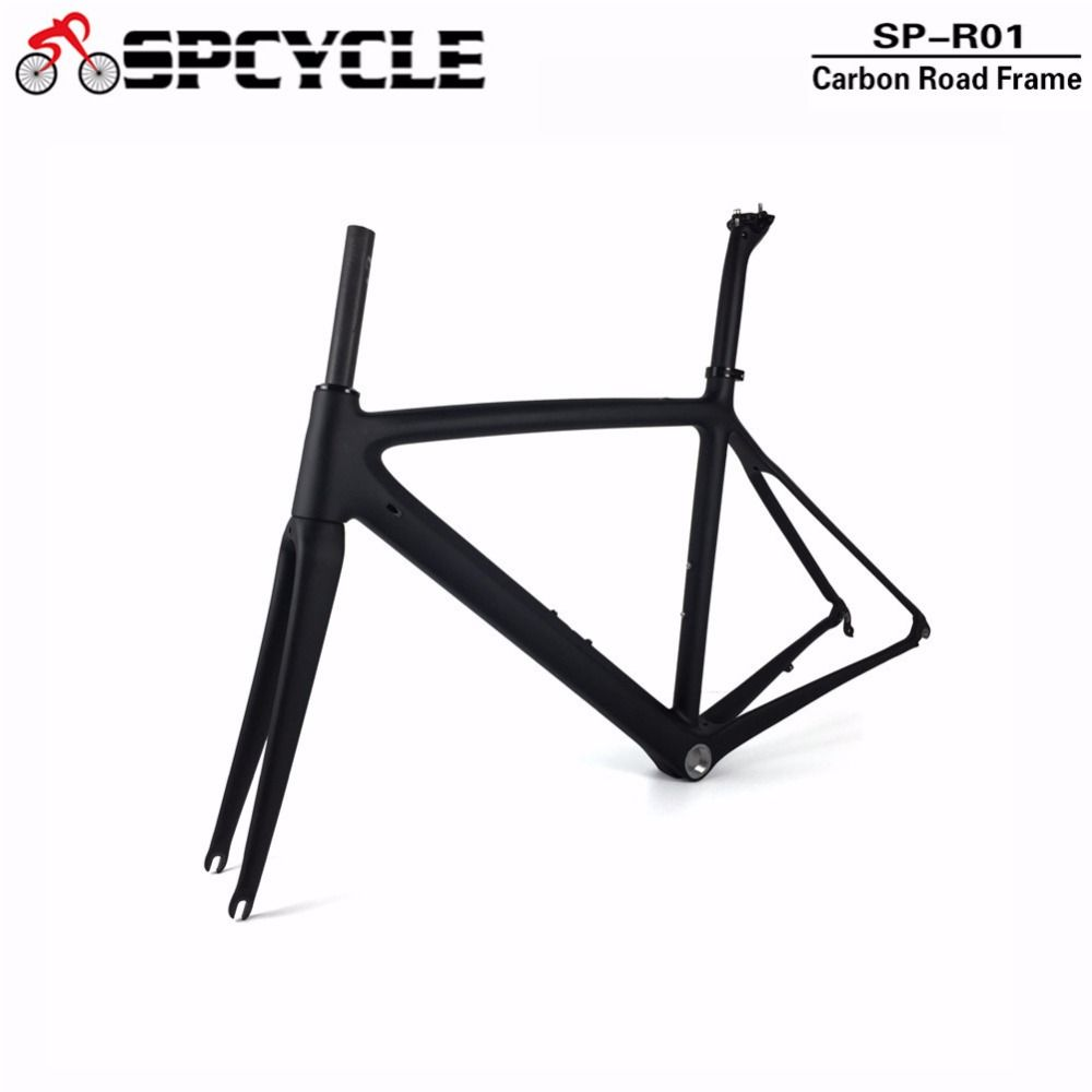 Full Carbon Road Bicycle Frames ,T1000 Cycling Carbon Bike Road Frames, Racing Carbon Bike Frame+Fork+Seatpost 50/53/55cm Size