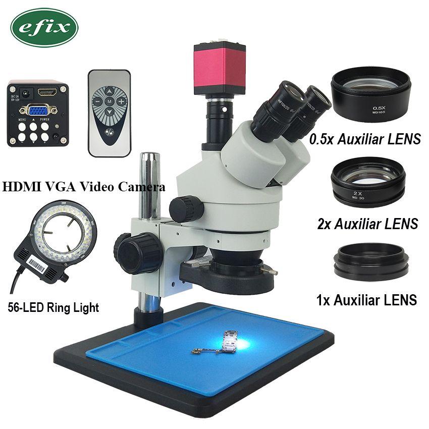 Efix 13MP 3,5-90X HDMI VGA Trinocular Stereo Mikroskop Simul-Brenn Kontinuierliche Zoom Video Kamera Telefon PCB Löten reparatur Werkzeug