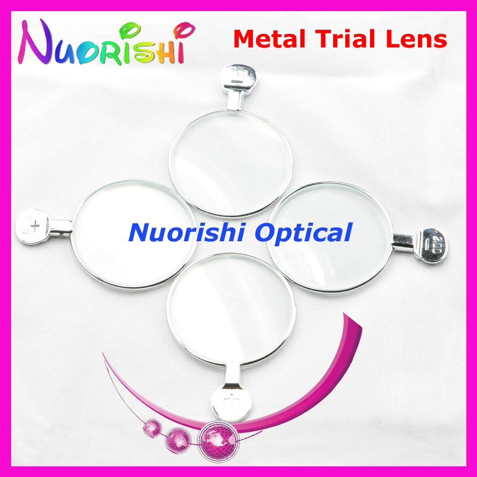 5pcs Good Qulaity Shiny Metal Rim Optical Optometry Ophthalmic Trial Glass Lens Dia 38mm for Trial Frame HJS Free Shipping