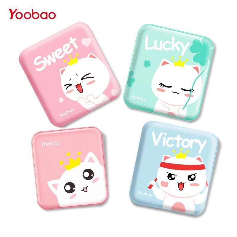 Yoobao Banque de Puissance Mignon 10000 mah Pour Xiao mi mi 2 USB Petit Pau Banque mi ni Portable Externe Batterie poverBank Pour Oukitel Téléphone