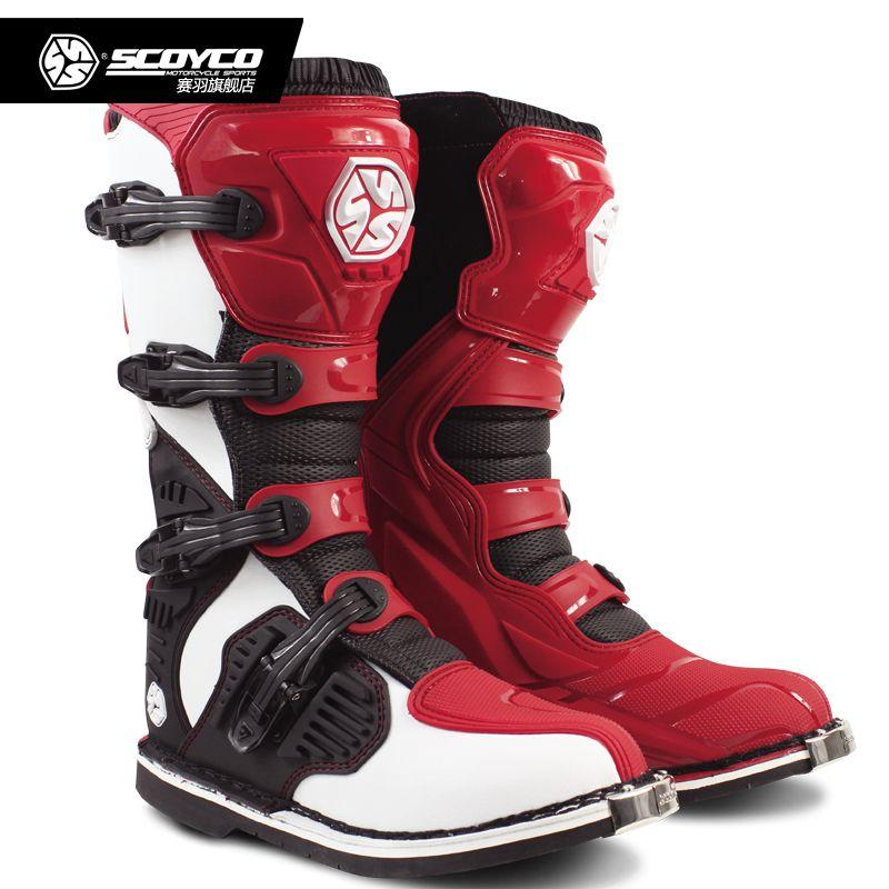 SCOYCO MBM001C racing ATV motorcycle long shoes off-road motocross boots Botas MX Dirt bike Sports Protection Leather motorbike