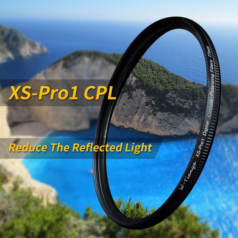 Wtianya mince xs-pro1 numérique Circulaire Polarisant cpl 67 77mm ultra-mince 37 40.5 43 46 49 52 55 58 62 72 82mm c-filtre polarisé