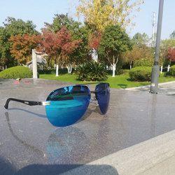 2017 Lvvkee Top Brand Desain Pria Kacamata Terpolarisasi Mengemudi Kacamata Hitam UV400 Mewah Sinar Panas Merek Kemasan Asli Glasse
