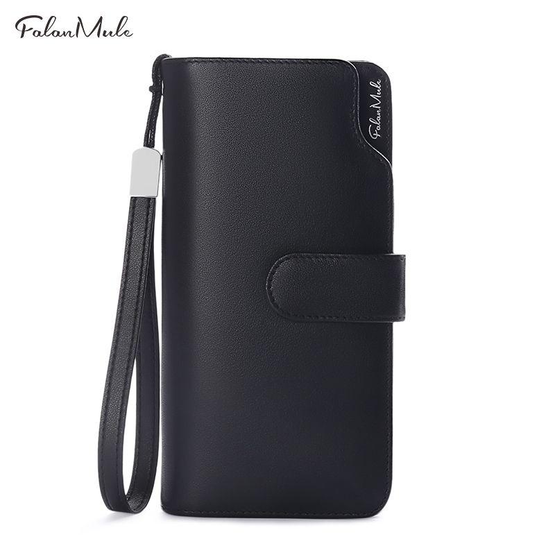 Hot Sale Men Clutch Wallet Long Purse Wallet Luxury Male Genuine Leather Wallet Men Zipper Purse Male Wallet Leather Purse Men