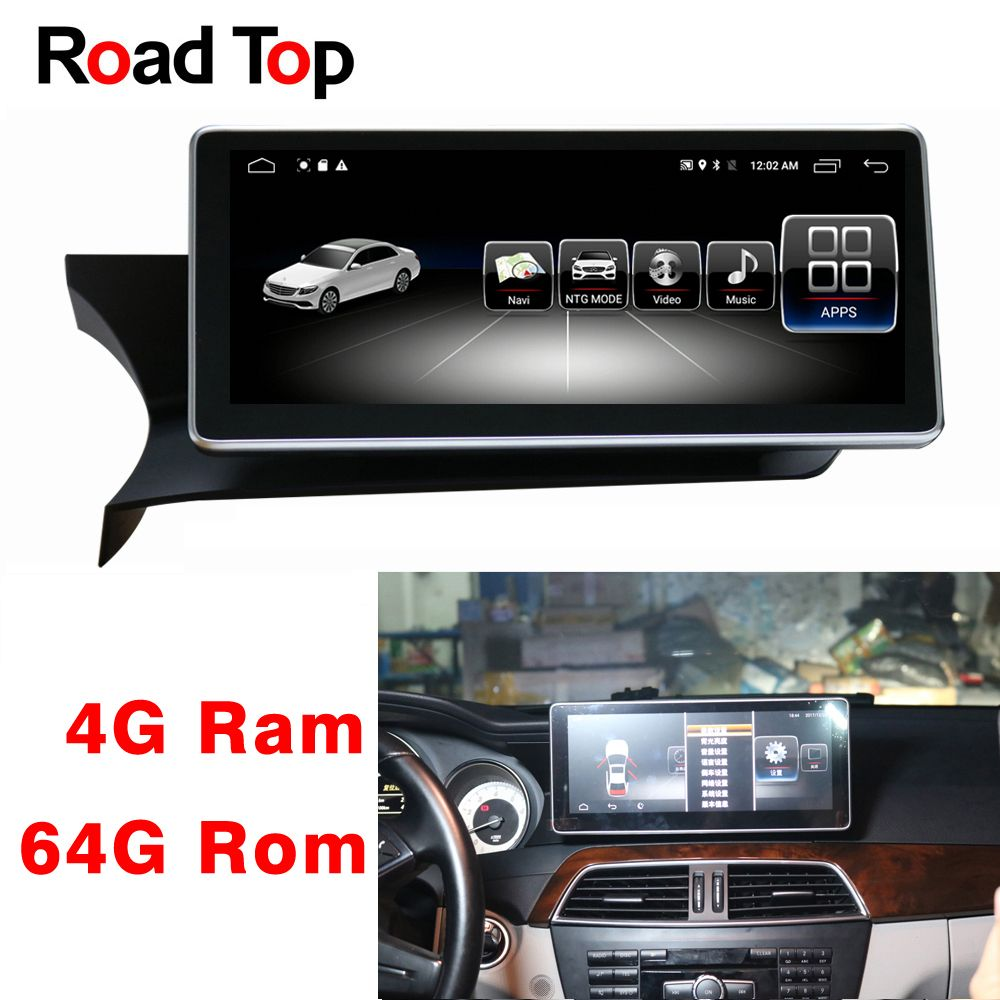 10,25 Android 8.1 Display für Mercedes Benz C Klasse W204 2011-2013 Auto Radio Monitor GPS Navigation Bluetooth Multimedia bildschirm