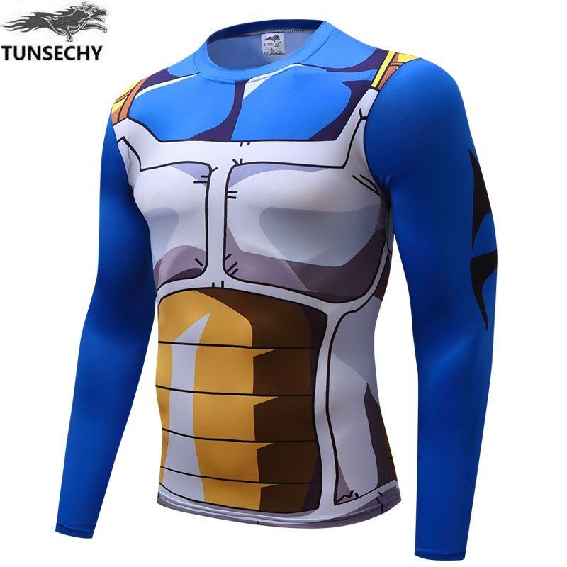 Anime Dragon Ball Z Super Saiyan Vegeta Goku T Shirt Men Dragon ball Costume Cosplay Fitness under Tee T-Shirts homme