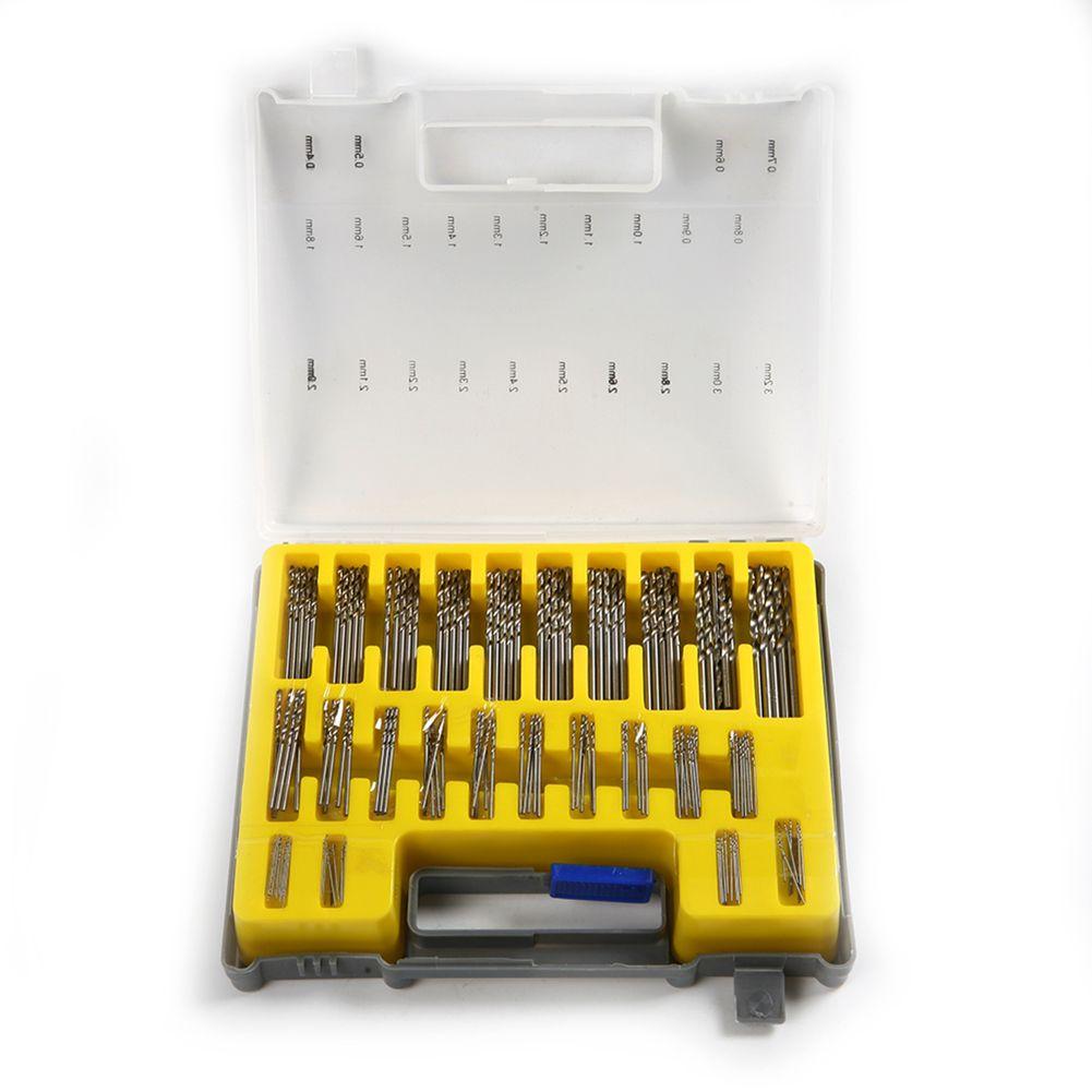 150pcs Mini Power Rotary Precision HSS Micro Twist Drill Bit Set Auger 0.4-3.2mm