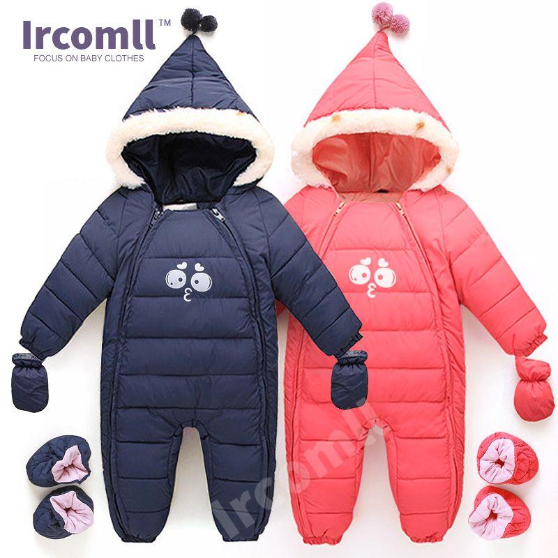 Down Cotton Baby Rompers Winter Thick Boys Costume Girls Warm Infant Snowsuit Kid Jumpsuit Children Outerwear Baby Wear 0-18m