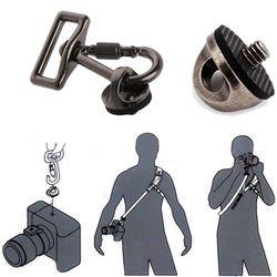 OOTDTY SLR DSLR Camera 0.25in Screw Connecting Adapter Hook For Shoulder Sling Strap