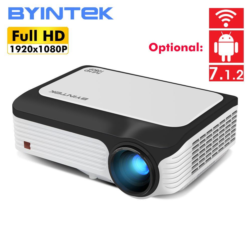 BYINTEK M1080 Smart (2 GB + 16 GB) android WIFI FULL HD 1080 P Tragbare LED Mini Projektor 1920x1080 LCD Video Für Iphone SmartPhone