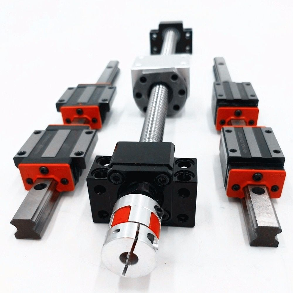 HBH20 Linear rails cnc  Ball Screw set SFU1605 L363.5/496.5/583.5mm +3 pcs NEMA23-servo-motorLCDA357H-LC57H3100