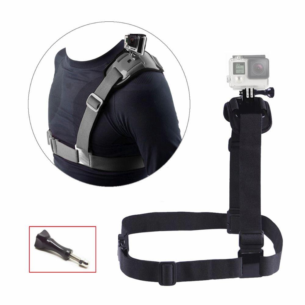 Poitrine Épaule Mont Strap pour Gopro Hero 6 5 4 Accessoires Xiaomi Yi 4 k Mont Ceinture Harnais Pour Aller pro SJCAM Action Caméra