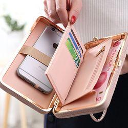 Wilicosh marca famosa cartera larga mujeres Carteras femenino embrague bolso Cartera de cuero para las mujeres titulares de tarjetas monedero wbs128