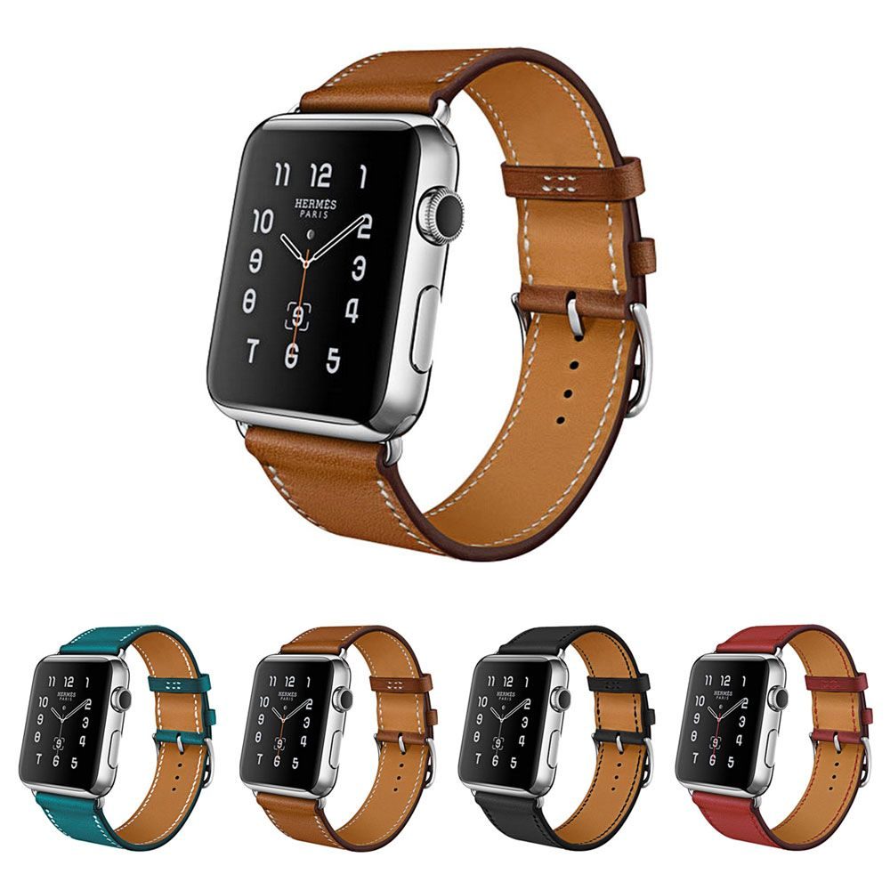 100% Genuine Leather Watchband for Apple Watch Band Series 3/2/1 Leather 42MM 38MM For Iwatch Band Leather