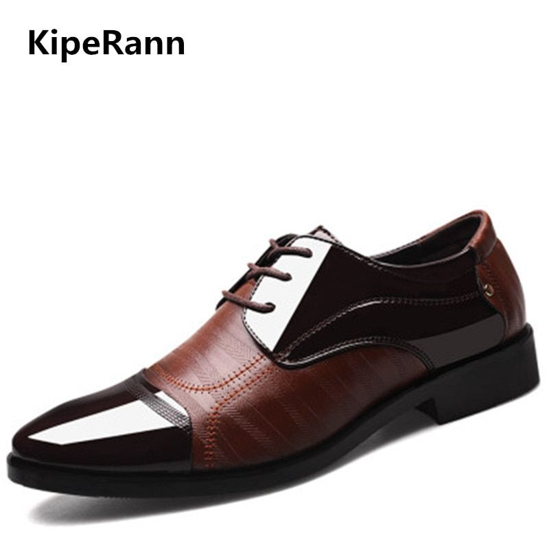New spring fashion Oxford business men's shoes leather high quality soft casual breathable men's flat shoes dance shoes