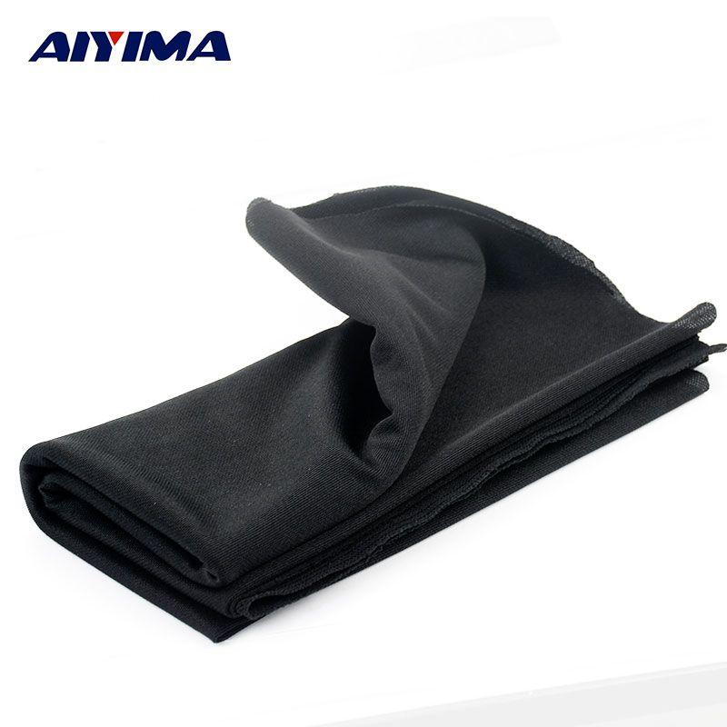 AIYIMA 1.8x0.5 m Audio Altavoces Altavoces de Sonido De Alta Densidad Tipo Grueso Negro Neto Máscara de Tela Paño Paño Deflector de radiodifusión