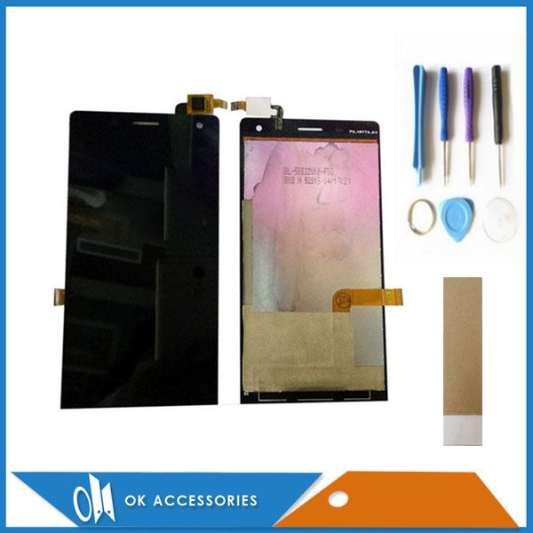 Black Color For Highscreen Verge LCD Display+Touch Screen Digtizer Assembly With Tools Adhesive Tape 1PC/Lot.