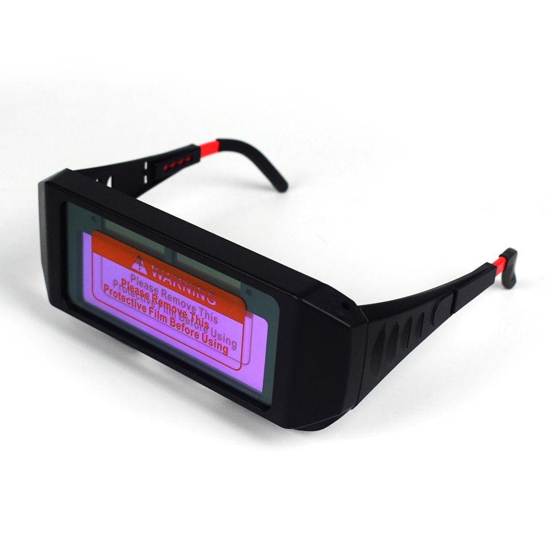 Neue Solar Powered Auto Verdunkelung Schweißen Maske Helm Auge Goggle Schweißen Gläser Arc Automatische kopf ändern gläser