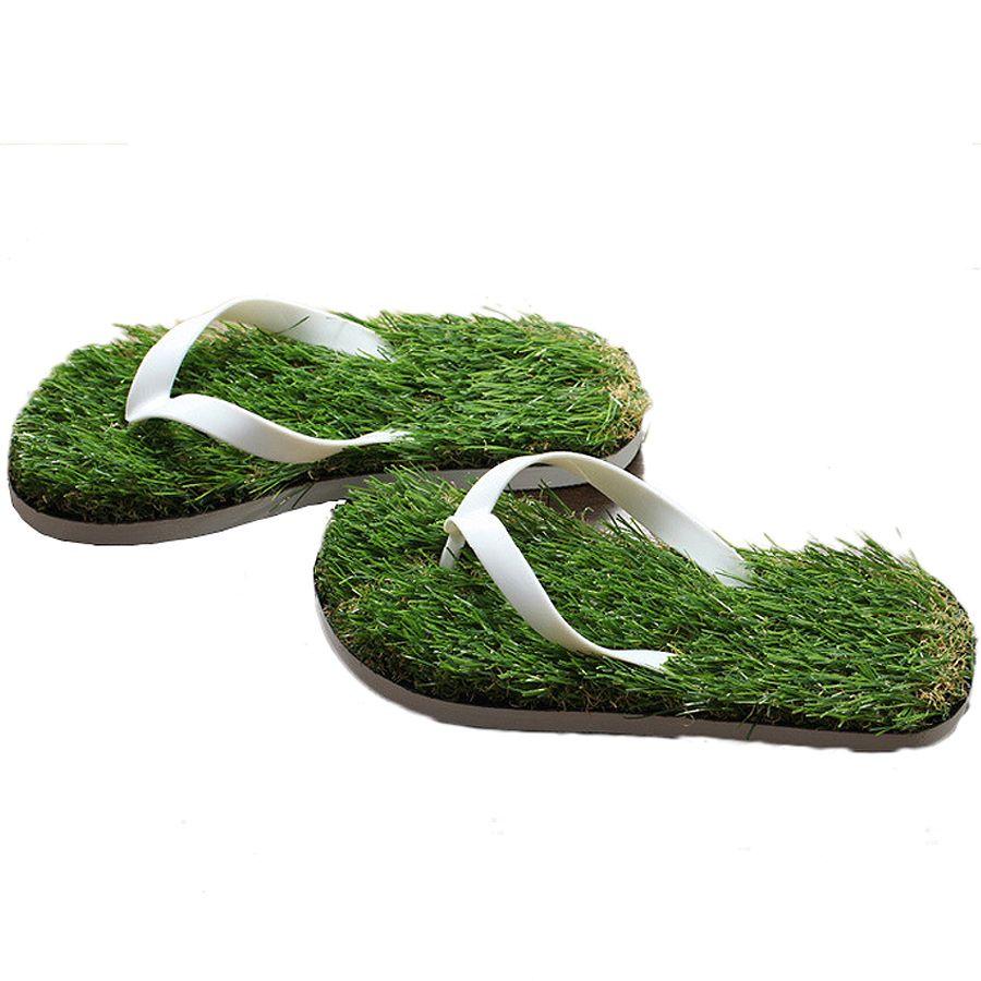 2019 nouvelles femmes Imitation herbe tongs pour femme été plage plat chaussure sur sandales pantoufle dames Sandalias Mujer amoureux