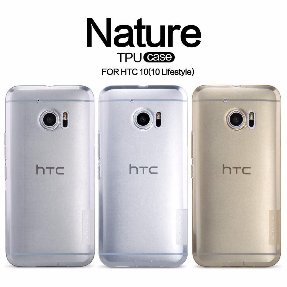 NILLKIN Ultra Thin Transparent Nature TPU Case For htc 10 Clear tpu case Soft Back cover For htc 10 lifestyle tpu free shipping