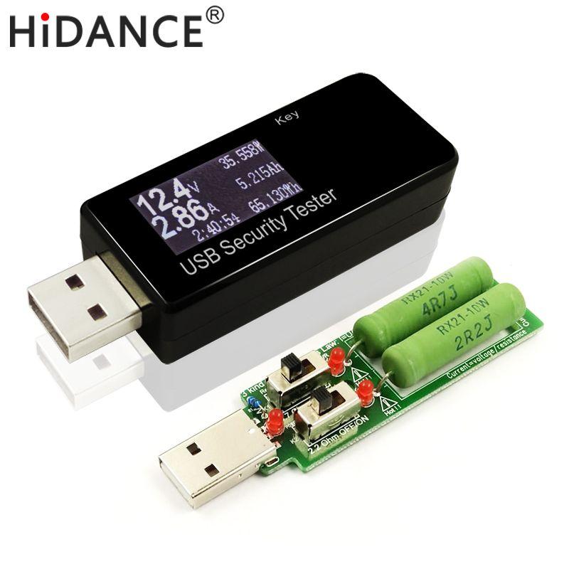 USB 30 V DC Tension Actuelle Détecteur Compteur puissance banque capacité Testeur + 3 Résistance nature Électronique charge décharge Résistance