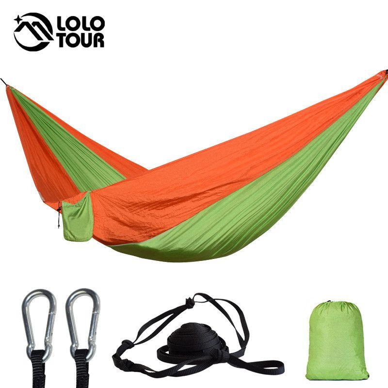 Outdoor Hammock Garden Camping Sports Home Travel Garden Hang Bed Double Person Leisure Travel Parachute Hammocks