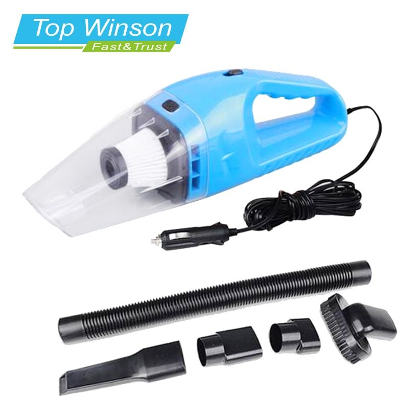 Car Vacuum Cleaner Hand Held Wet and Dry dual-use  Auto Cigarette Lighter Hepa Filter 12V 120W  Blue