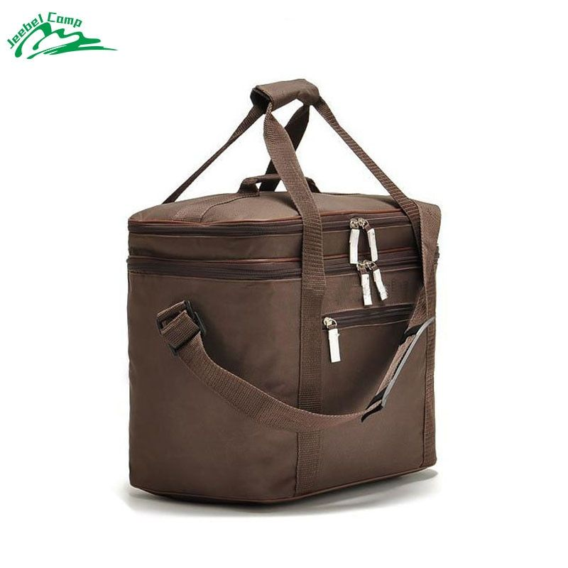 Jeebel 18L Outdoor Picnic Bag cooler bag Oxford Cloth double-deck waterproof Takeout Aluminum Foil Insulation Lunch cold Box