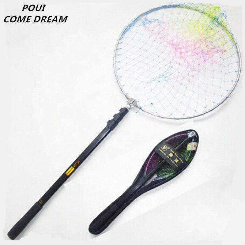 new Superior quality 2.4m fold rod fishing net landing net fishing net china outdoor pesca fishing network fish trap shrimp net