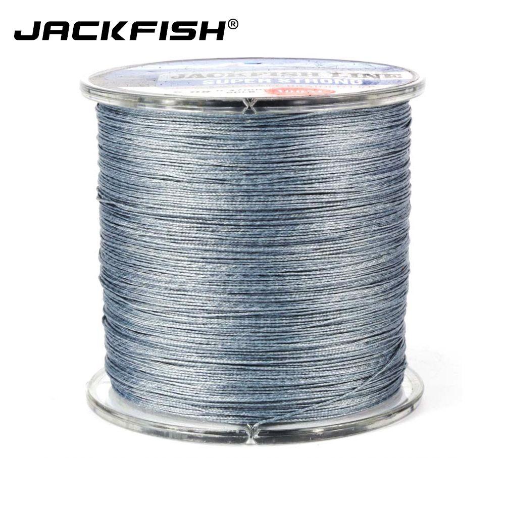 JACKFISH 8 brin 300 m Plus Lisse PE Tressé Ligne De Pêche Avec la Boîte 10-60LB Multifilament Ligne De Pêche Pêche À La Carpe D'eau Salée