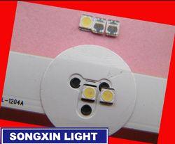 110 pcs POUR D'origine LG LED LCD TV rétro-éclairage lampe perles lentille 1 W 3 v 3528 2835 blanc froid lumière perle