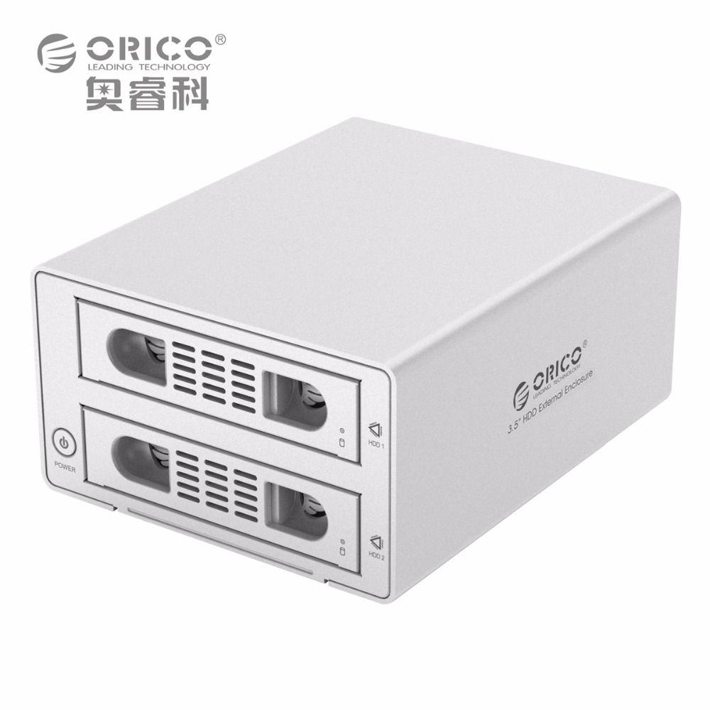 ORICO 3529RUS3 Outil Livraison En Aluminium 2 Baie 3.5 SATA2.0 USB3.0 et eSATA HDD Station D'accueil Externe RAID Fonction 2bay HDD Cas
