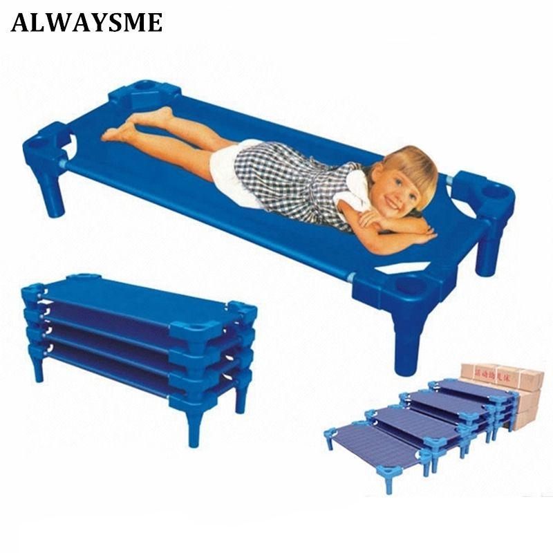 ALWAYSME Baby Kids Children Bed Crib Streamline Toddler Cot Daycare Sleeping Cot for Kids Kindergarten Bed Co Sleeping Bed