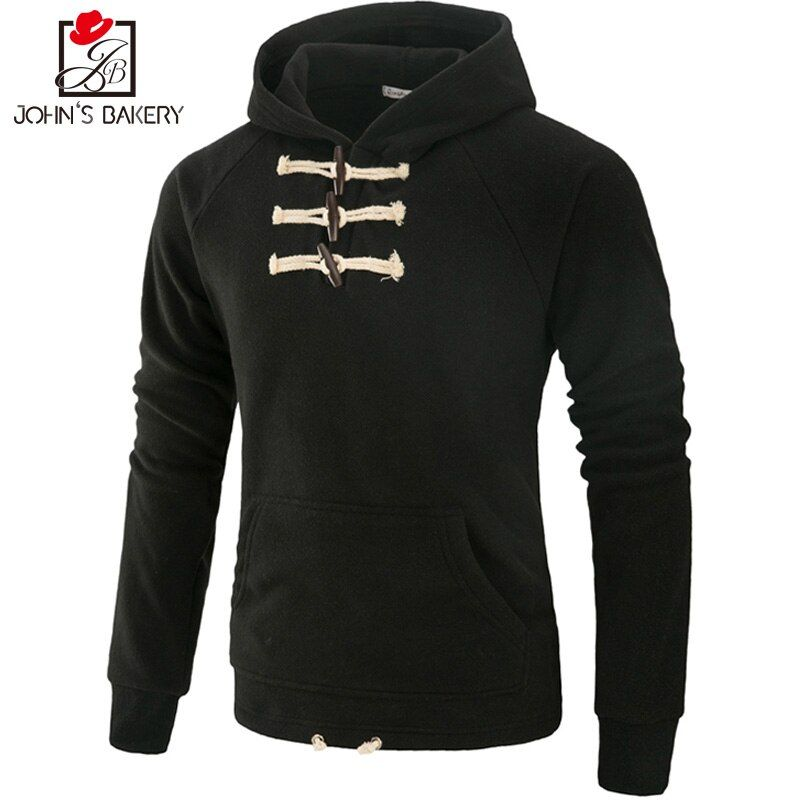 John'S Bakery Brand 2017 New Hoodies Brand Men Solid Color Sweatshirt Male Hoody Hip Hop Autumn Winter Hoodie Mens Pullover XXXL