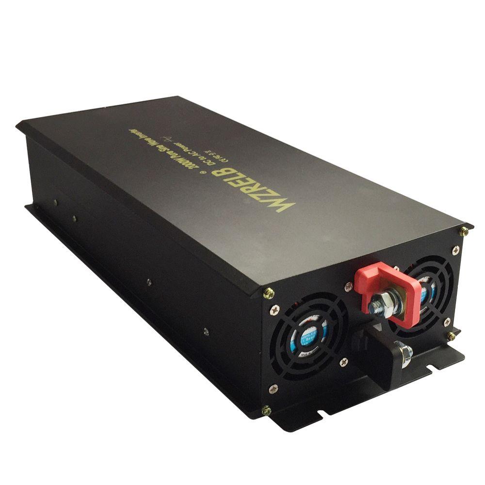 Pure Sine Wave Power Inverter 24V to 220V 2000W Generator Inverter Solar System Converter 12V 48V DC to 120V 230V 240V AC Fridge