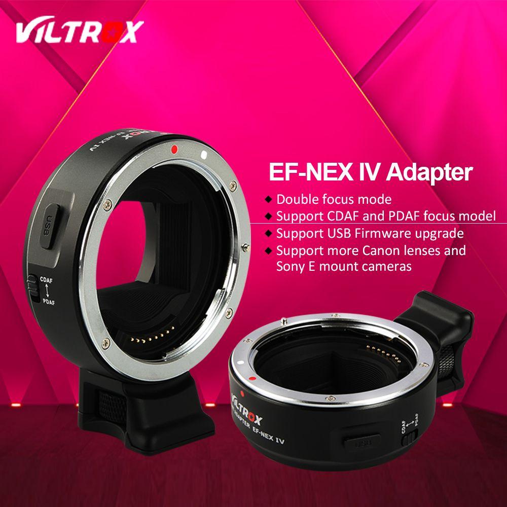 Viltrox EF-NEX IV Faster Auto Focus Lens Adapter for Canon EOS EF Lens to Sony E NEX Full Frame A7 A7R A7SII A6300 A6000 NEX-7