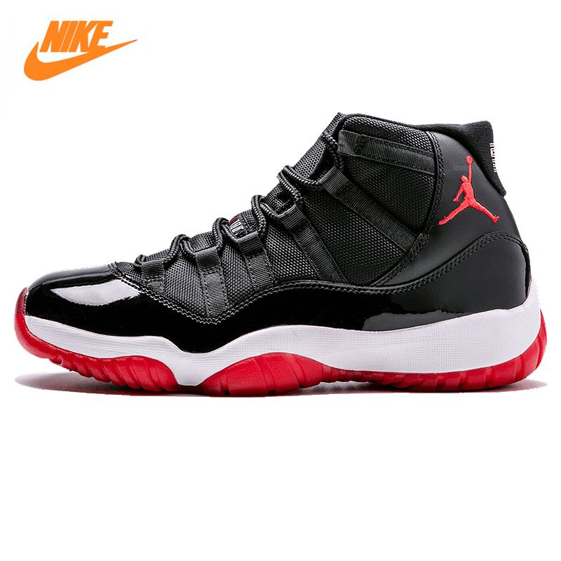 Nike Air Jordan XI Gezüchtet AJ 11, männer Laceup Comfortble Lifestyle Schuhe, herren Sneakers Basketball-schuhe 378037 010